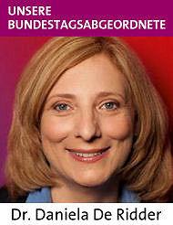 Bundestagskandidatin Dr. Daniela De Ridder